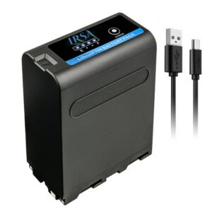 LRSA Battery Super Charger for Sony NP-F990 Pro with USB 28400MAH 7.4V